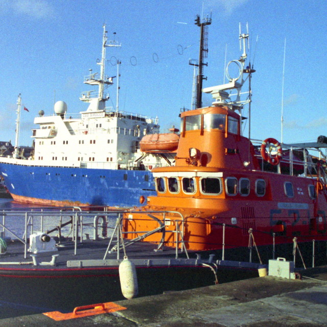 """Lerwick Lifeboat"" stock image"