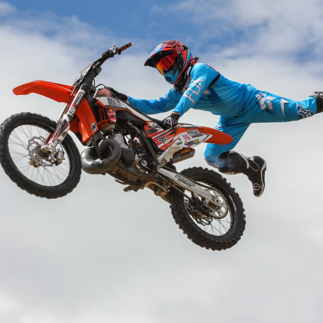 """Freestyle motocross"" stock image"