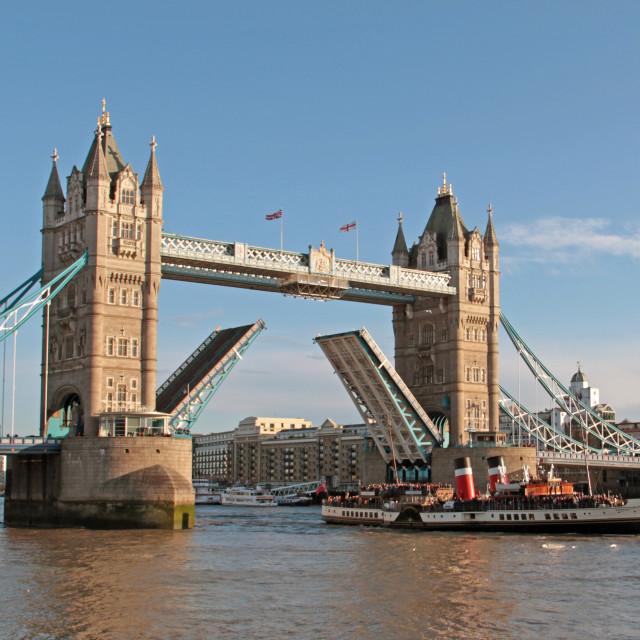 """P.S Waverley under Tower bridge"" stock image"