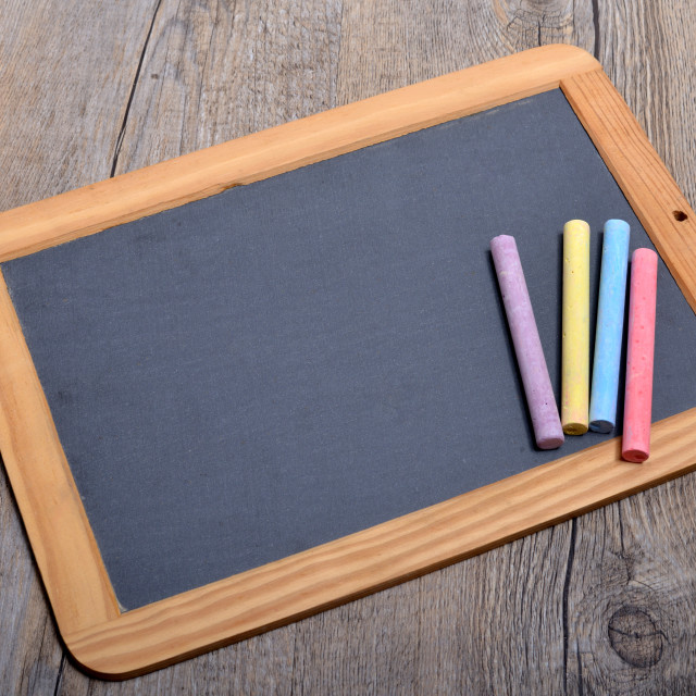 """slate with chalks"" stock image"
