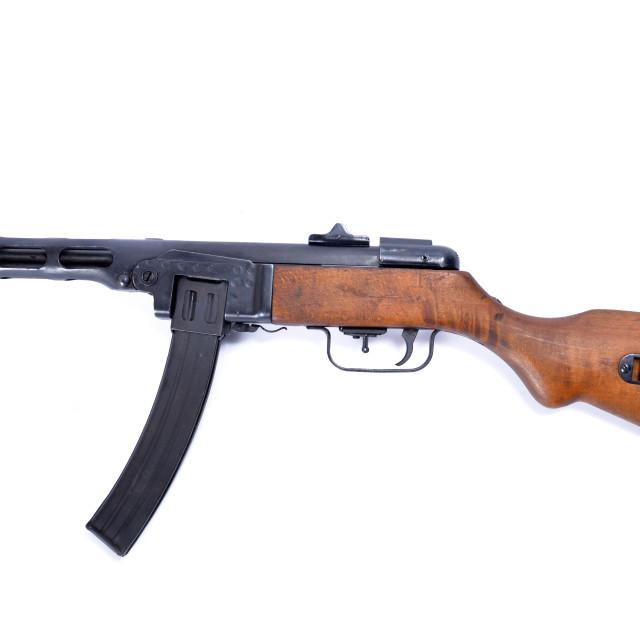 """submachine gun ppsh 41"" stock image"