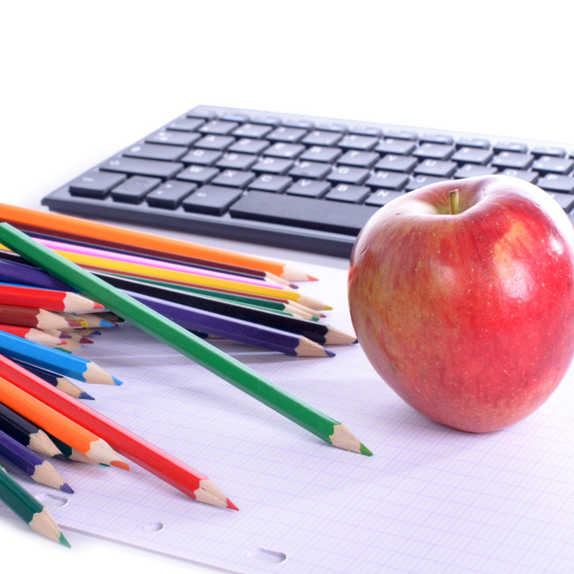 """""""apple and computer"""" stock image"""