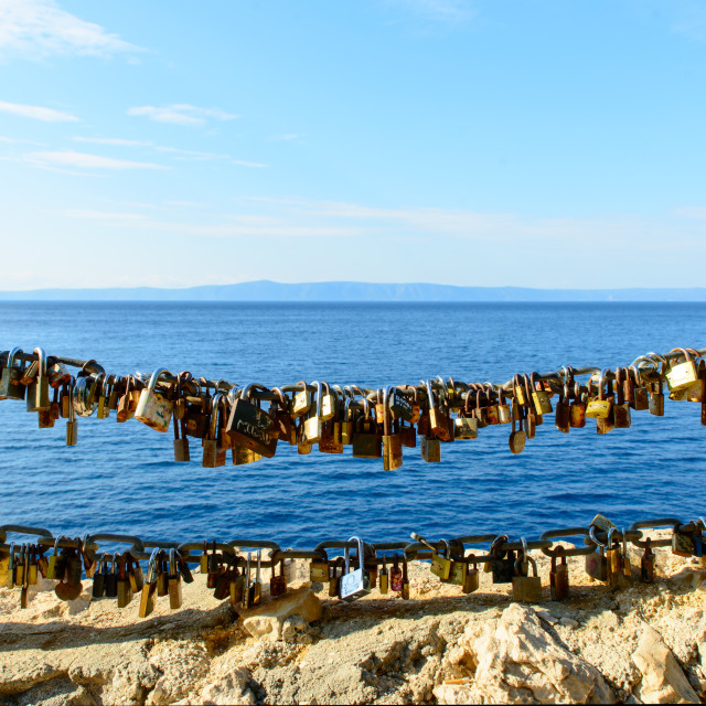 """padlocks of love Makarska"" stock image"