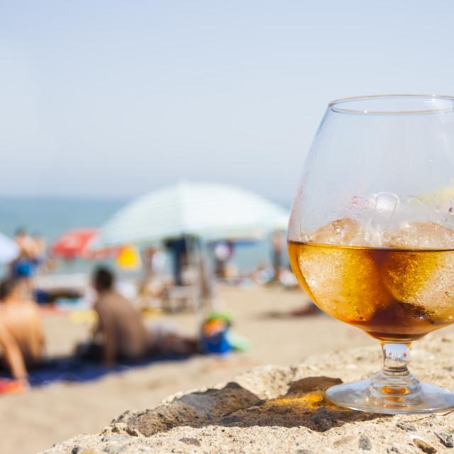 """""""Honeyrum glass"""" stock image"""