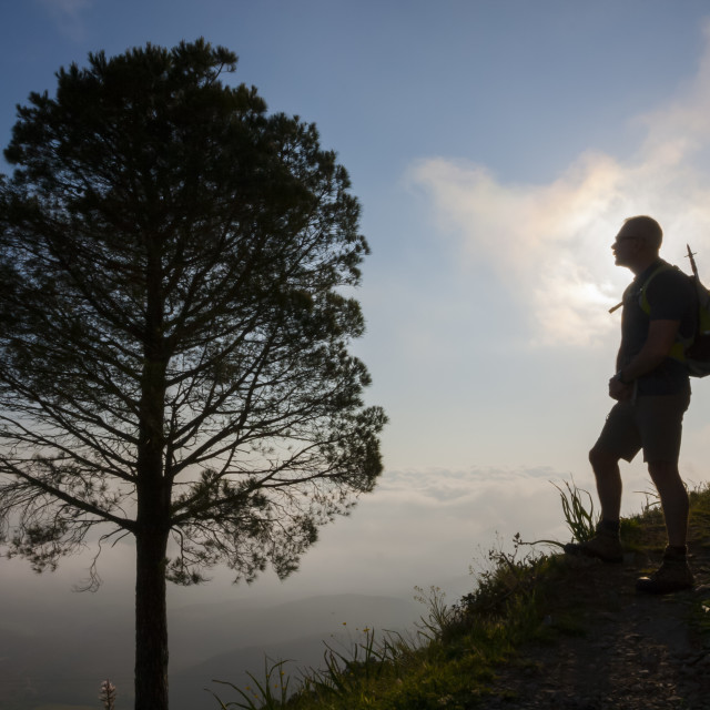 """""""Hiking in the mountain"""" stock image"""