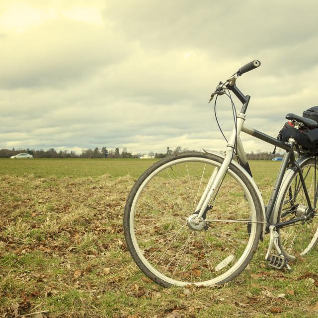"""Bike ready to travel"" stock image"