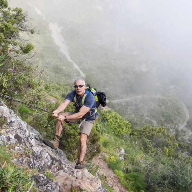 """""""Man hiking"""" stock image"""