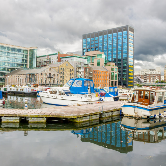 """""""Grand Canal dock in Dublin"""" stock image"""