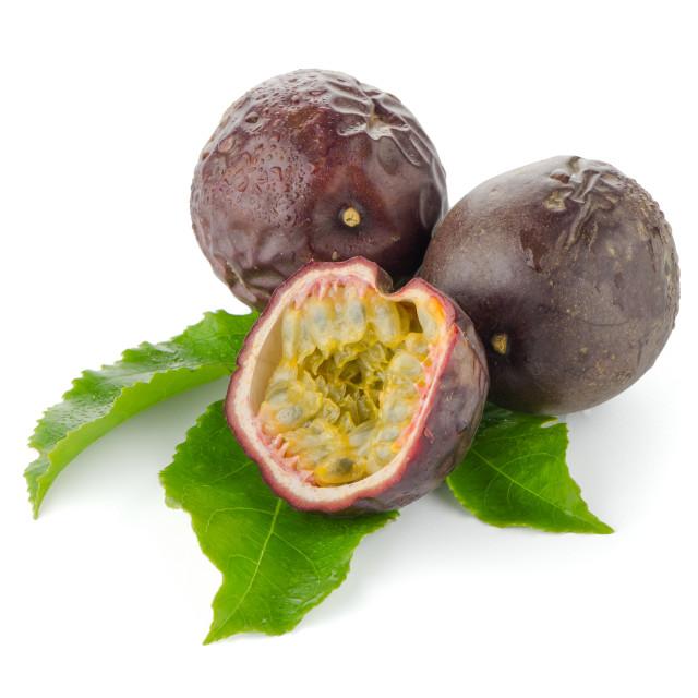 """""""Fresh passion fruit"""" stock image"""
