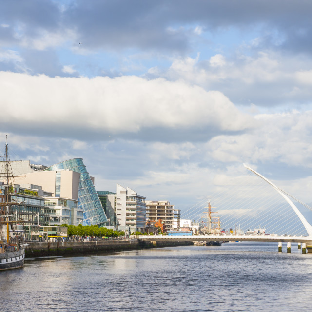 """Liffey River in Dublin"" stock image"