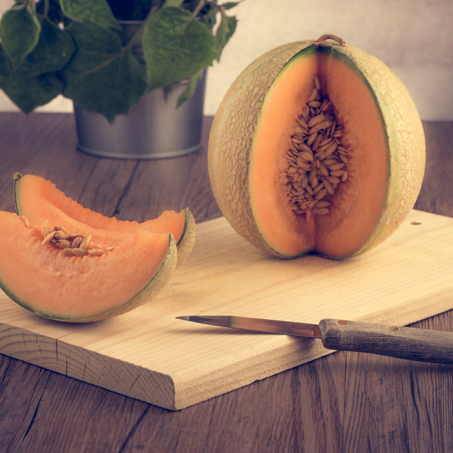 """Honeydew melon"" stock image"