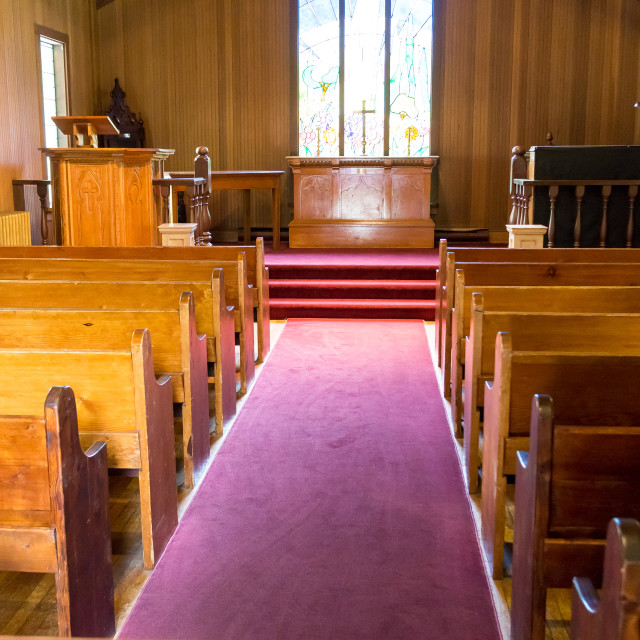 """old time church"" stock image"
