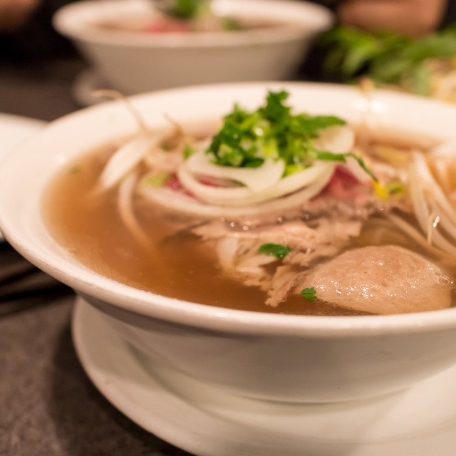 """vietnamese beef noodle soup"" stock image"