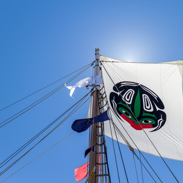 """main mast flag flying in the sun"" stock image"