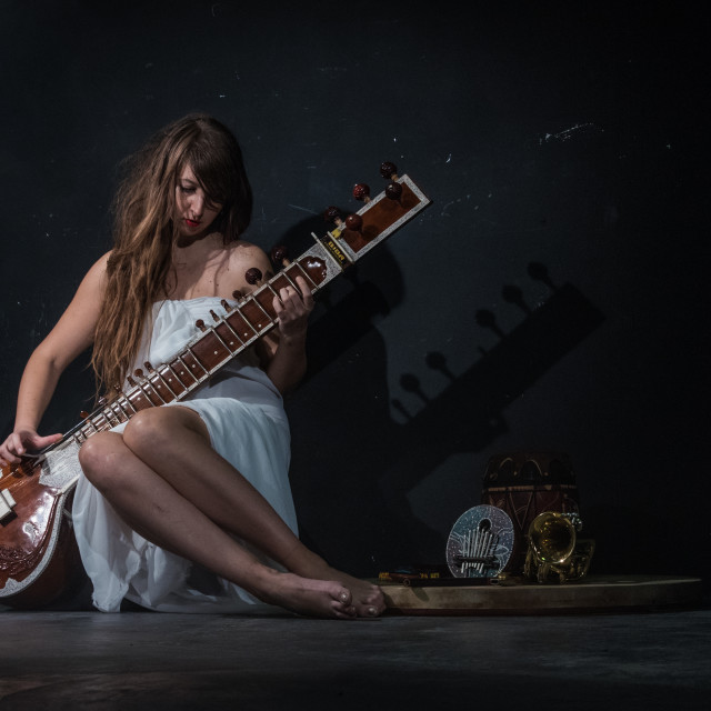 """Playing sitar"" stock image"