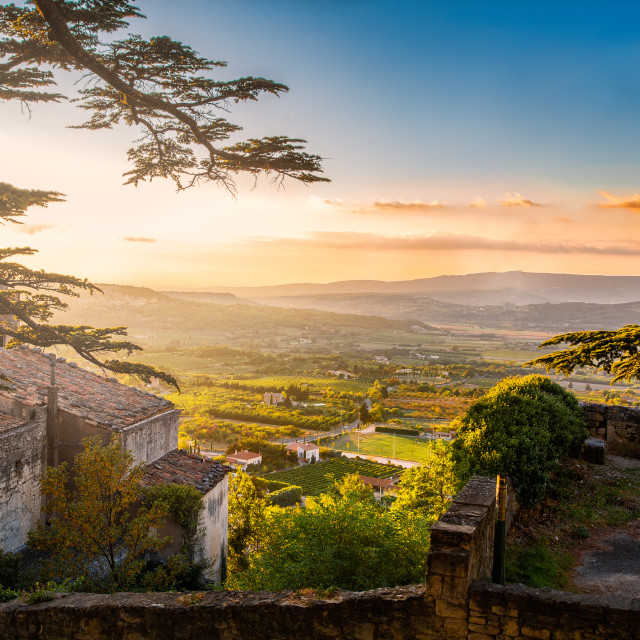 """Provence sunset"" stock image"
