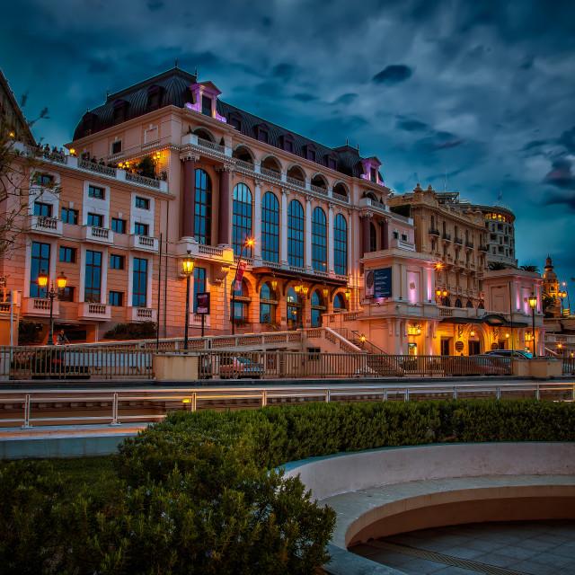 """""""Monte Carlo night"""" stock image"""