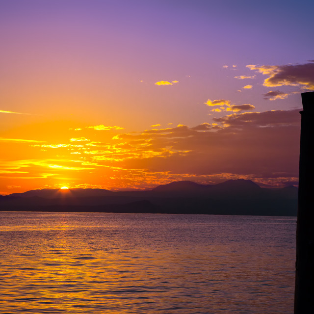 """Garda sunset"" stock image"