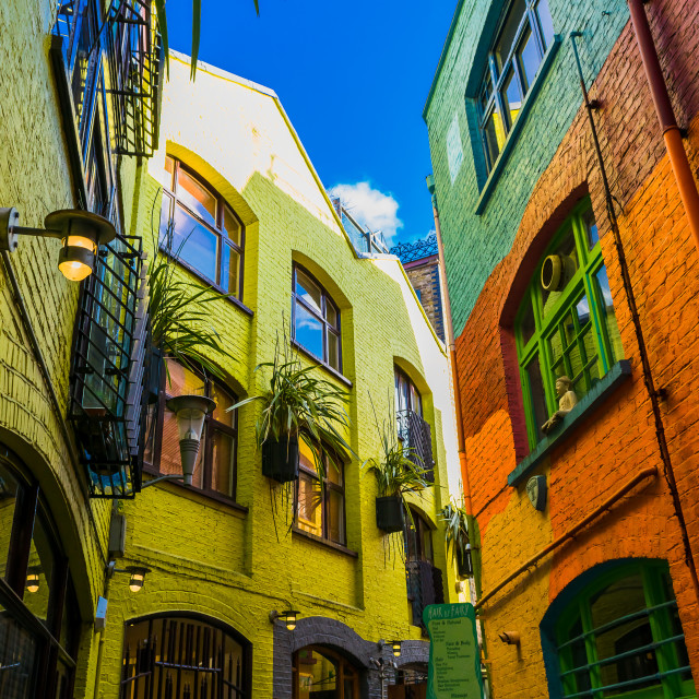 """Neal's Yard, Covent Garden, London"" stock image"