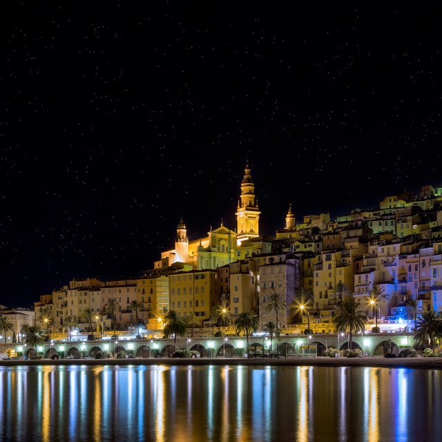 """Night menton"" stock image"