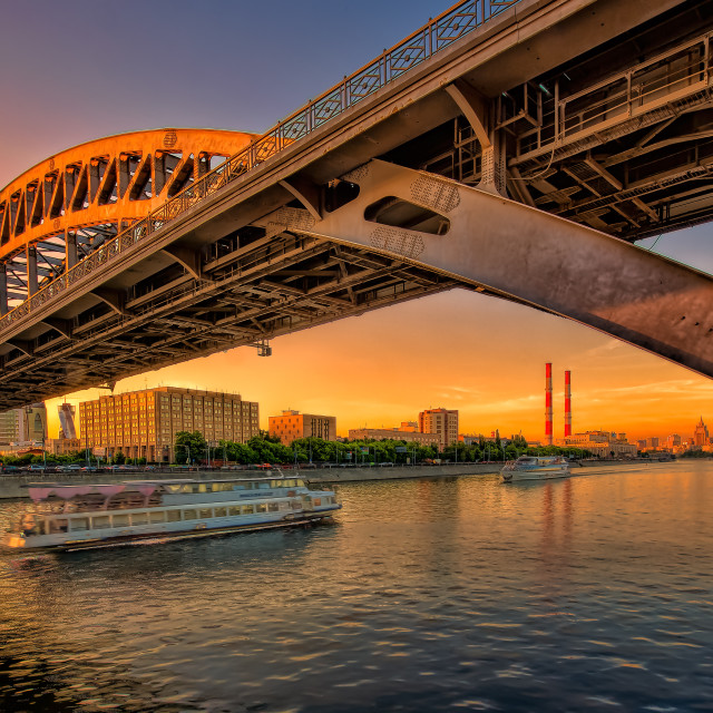 """""""Sunset in the city"""" stock image"""