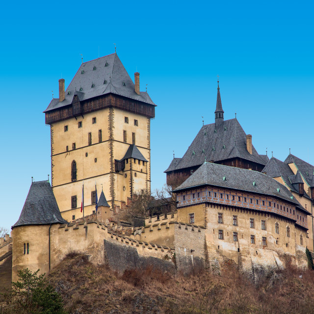"""Castle Karlstein"" stock image"
