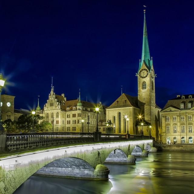 """""""Night Zurich"""" stock image"""
