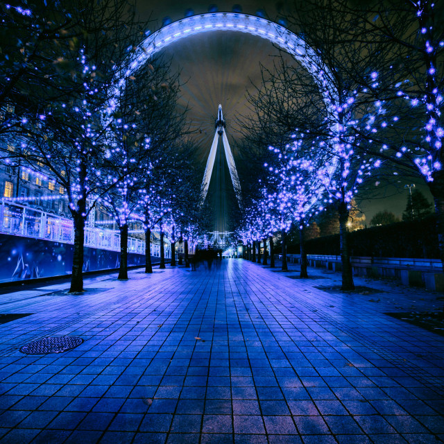 """London Eye Lights"" stock image"