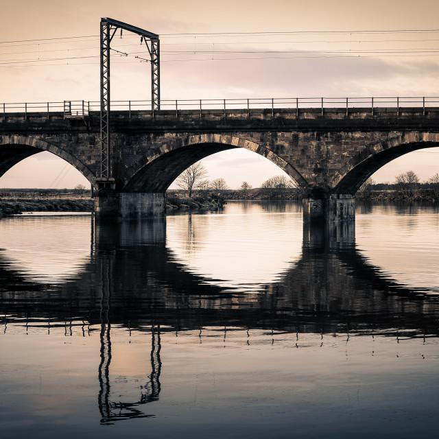 """""""Old Irvine Railway Bridge"""" stock image"""