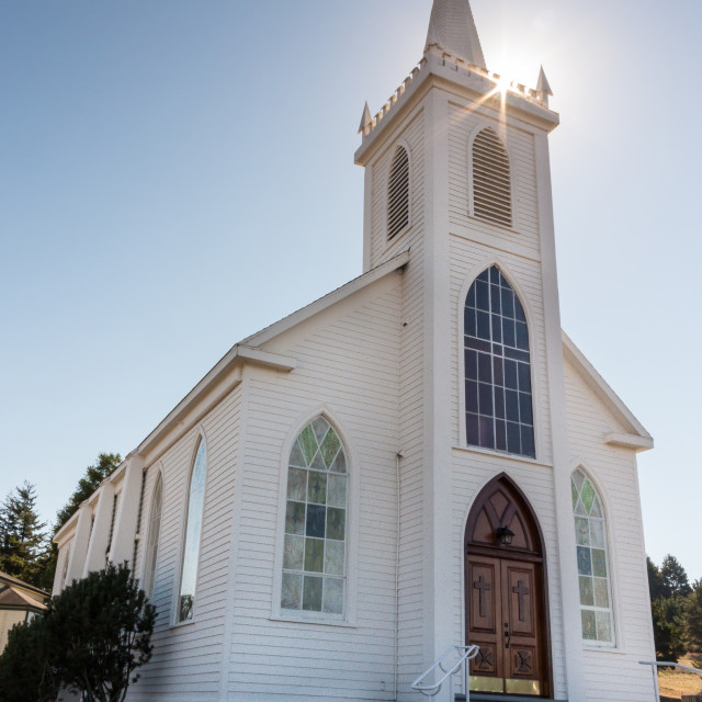 """St. Theresa de Avila in Bodage Bay, California"" stock image"