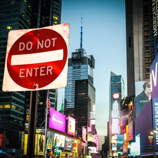 """Times Square Do Not Enter"" stock image"