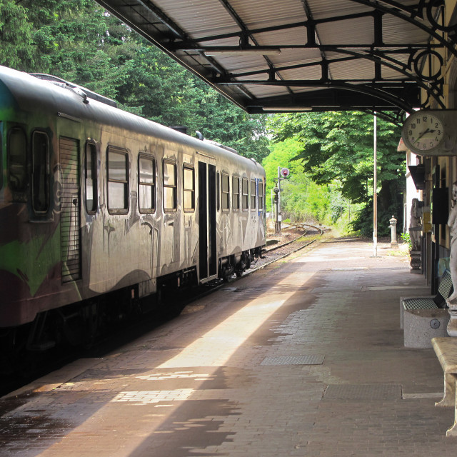 """Elegant Italian Railway Station"" stock image"