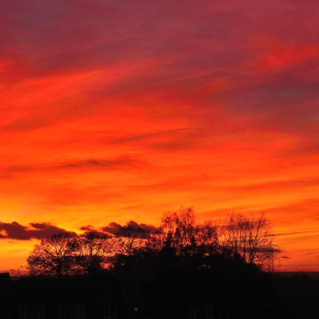 """Spectacular sunset"" stock image"