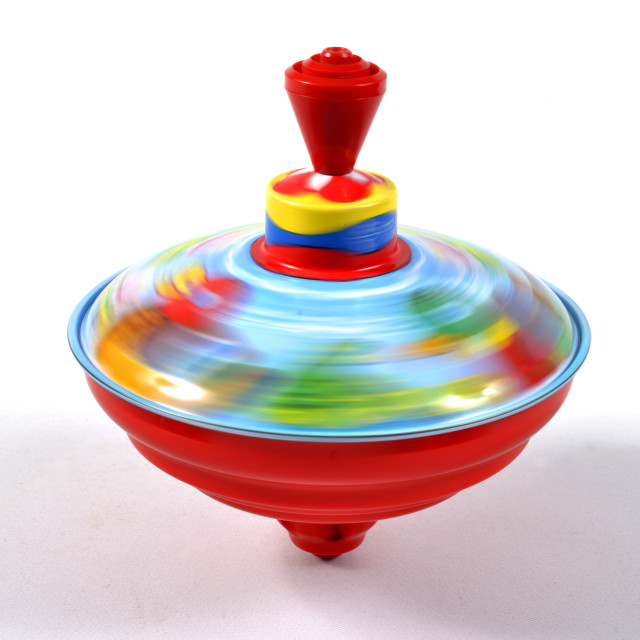 """spinning top toy"" stock image"