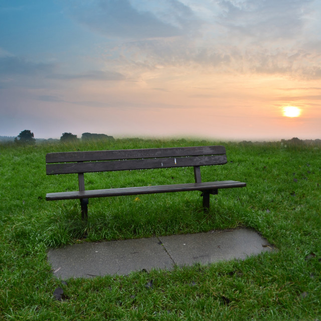 """The lonely bench"" stock image"