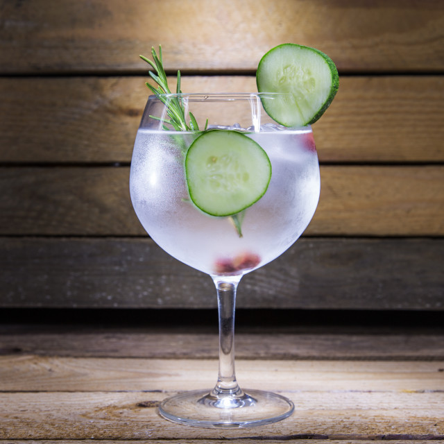 """gin tonic with cucumber"" stock image"