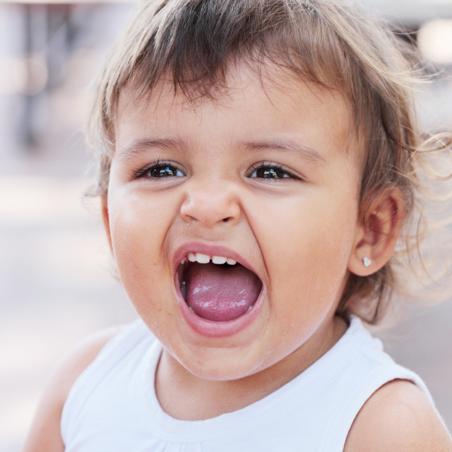 """""""Dirty screaming baby"""" stock image"""