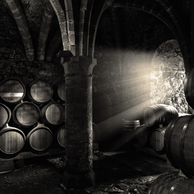 """Wine cellar"" stock image"