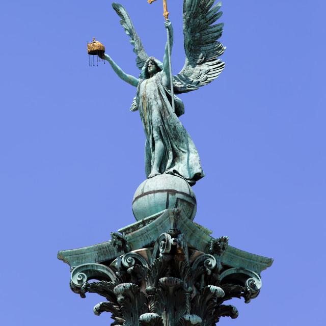 """Archangel Gabriel Statue in Budapest"" stock image"