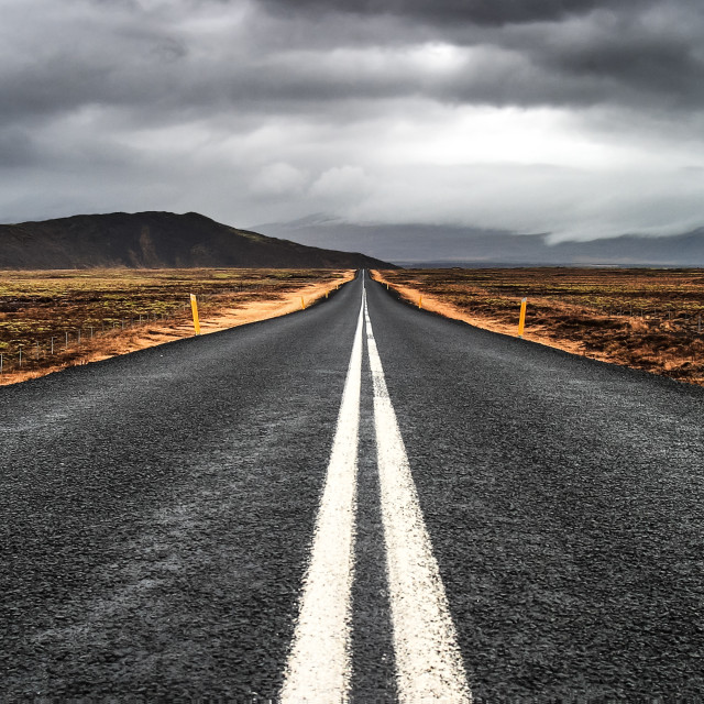 """""""Road to nowhere 2"""" stock image"""
