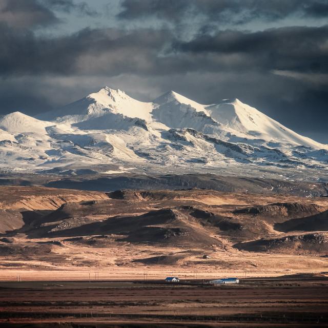 """Snowy mountains"" stock image"