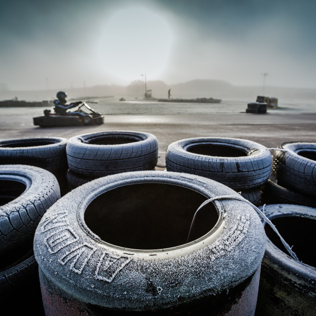 """Winter Karting"" stock image"