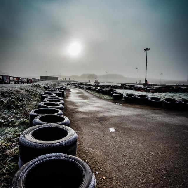 """""""Karting track pit lane"""" stock image"""