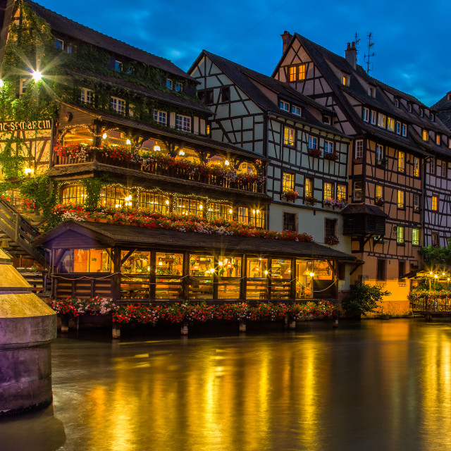 """Night Strasbourg"" stock image"