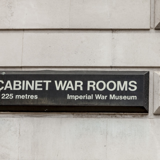 """Cabinet War Rooms sign"" stock image"