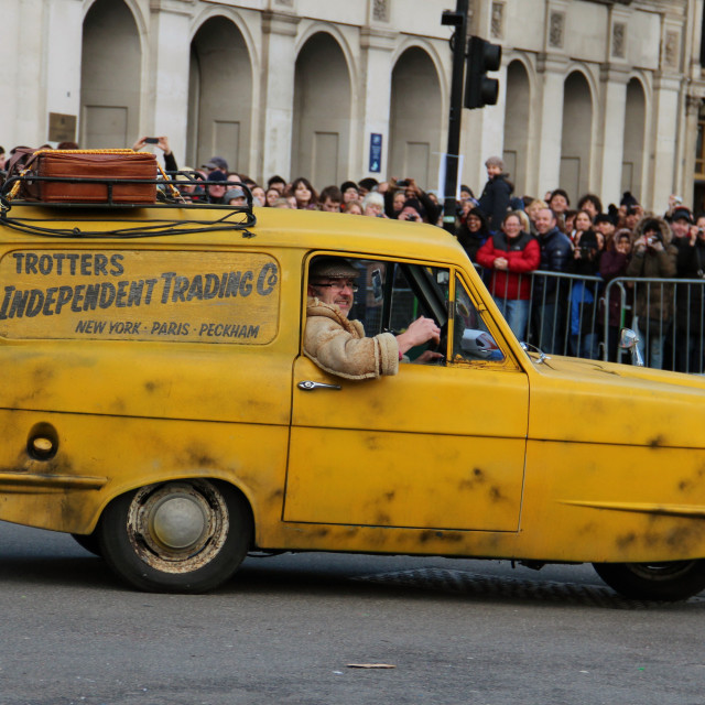 """Del Boy's Van in London New Year Parade 2013"" stock image"