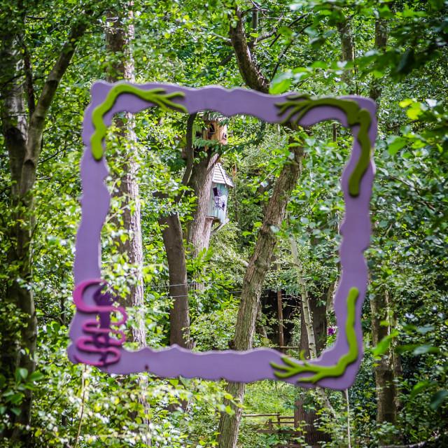 """""""Framed Treehouse"""" stock image"""