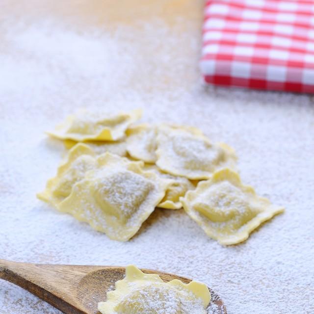 """Fresh ravioli."" stock image"