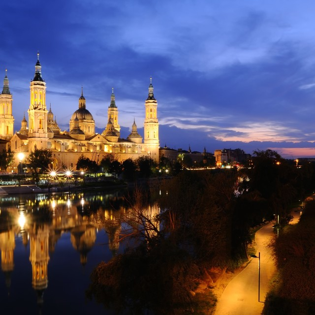"""Pillar basilica in Zaragoza, Spain."" stock image"