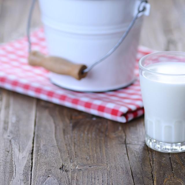 """Glass of fresh milk."" stock image"